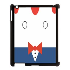 Peppermint Butler Wallpaper Face Apple Ipad 3/4 Case (black) by Alisyart