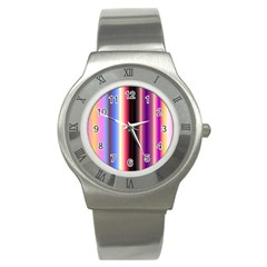 Multi Color Vertical Background Stainless Steel Watch by Simbadda