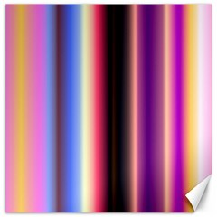 Multi Color Vertical Background Canvas 20  X 20   by Simbadda