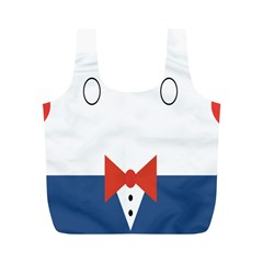 Peppermint Butler Wallpaper Face Full Print Recycle Bags (m)