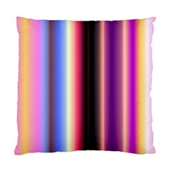 Multi Color Vertical Background Standard Cushion Case (two Sides) by Simbadda