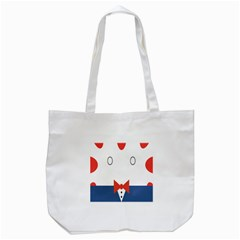Peppermint Butler Wallpaper Face Tote Bag (white)