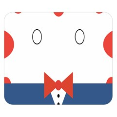 Peppermint Butler Wallpaper Face Double Sided Flano Blanket (small)  by Alisyart