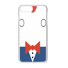 Peppermint Butler Wallpaper Face Apple Iphone 7 Plus White Seamless Case