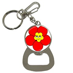 Poppy Smirk Face Flower Red Yellow Button Necklaces by Alisyart