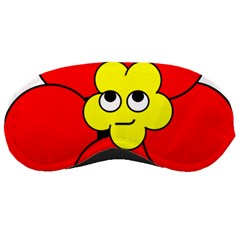 Poppy Smirk Face Flower Red Yellow Sleeping Masks