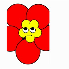 Poppy Smirk Face Flower Red Yellow Large Garden Flag (two Sides) by Alisyart