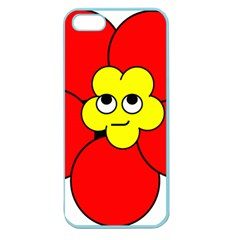 Poppy Smirk Face Flower Red Yellow Apple Seamless Iphone 5 Case (color) by Alisyart