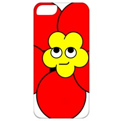 Poppy Smirk Face Flower Red Yellow Apple Iphone 5 Classic Hardshell Case
