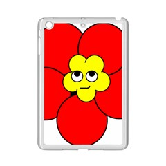 Poppy Smirk Face Flower Red Yellow Ipad Mini 2 Enamel Coated Cases