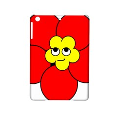 Poppy Smirk Face Flower Red Yellow Ipad Mini 2 Hardshell Cases