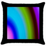 Multi Color Stones Wall Multi Radiant Throw Pillow Case (Black) Front