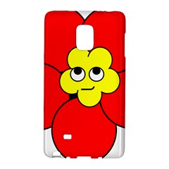 Poppy Smirk Face Flower Red Yellow Galaxy Note Edge