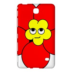 Poppy Smirk Face Flower Red Yellow Samsung Galaxy Tab 4 (8 ) Hardshell Case
