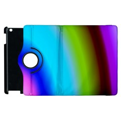 Multi Color Stones Wall Multi Radiant Apple Ipad 2 Flip 360 Case