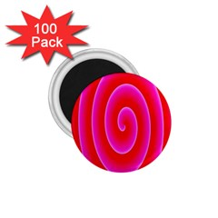 Pink Hypnotic Background 1 75  Magnets (100 Pack)  by Simbadda