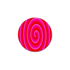 Pink Hypnotic Background Golf Ball Marker (4 Pack) by Simbadda