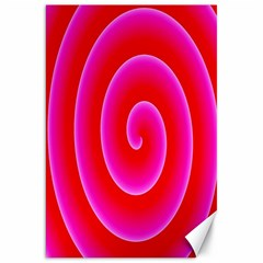 Pink Hypnotic Background Canvas 20  X 30   by Simbadda