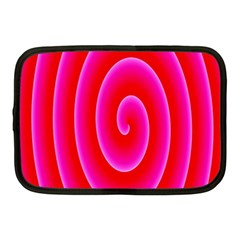 Pink Hypnotic Background Netbook Case (medium)  by Simbadda