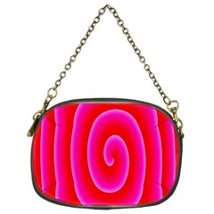 Pink Hypnotic Background Chain Purses (two Sides)  by Simbadda