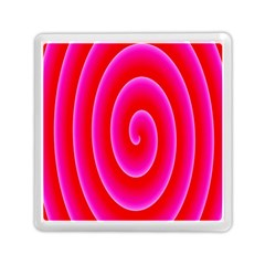 Pink Hypnotic Background Memory Card Reader (square)