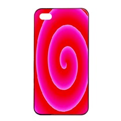 Pink Hypnotic Background Apple Iphone 4/4s Seamless Case (black) by Simbadda