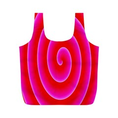 Pink Hypnotic Background Full Print Recycle Bags (m)  by Simbadda