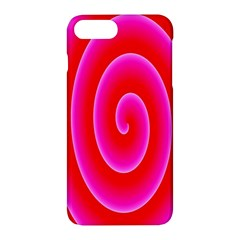 Pink Hypnotic Background Apple Iphone 7 Plus Hardshell Case