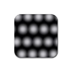 Black And White Modern Wallpaper Rubber Square Coaster (4 Pack)  by Simbadda