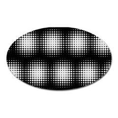 Black And White Modern Wallpaper Oval Magnet by Simbadda