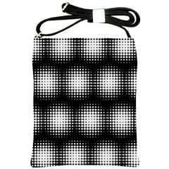 Black And White Modern Wallpaper Shoulder Sling Bags by Simbadda