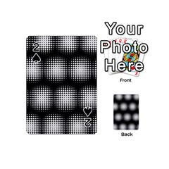 Black And White Modern Wallpaper Playing Cards 54 (mini)  by Simbadda