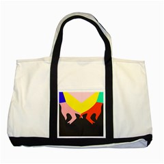 Ring Finger Romantic Love Two Tone Tote Bag by Alisyart