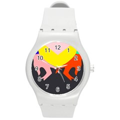 Ring Finger Romantic Love Round Plastic Sport Watch (m) by Alisyart