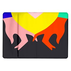 Ring Finger Romantic Love Samsung Galaxy Tab 10 1  P7500 Flip Case