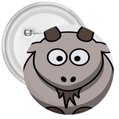 Goat Sheep Animals Baby Head Small Kid Girl Faces Face 3  Buttons by Alisyart