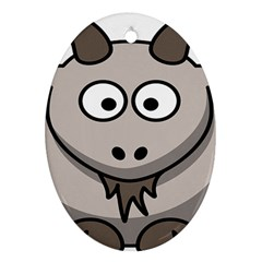 Goat Sheep Animals Baby Head Small Kid Girl Faces Face Ornament (oval)