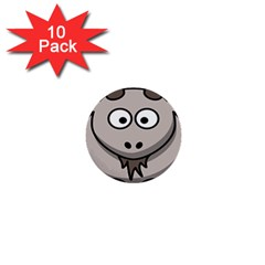 Goat Sheep Animals Baby Head Small Kid Girl Faces Face 1  Mini Buttons (10 Pack)  by Alisyart