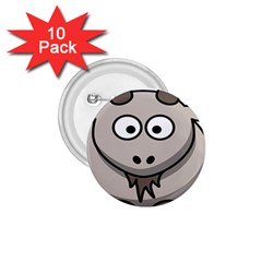 Goat Sheep Animals Baby Head Small Kid Girl Faces Face 1 75  Buttons (10 Pack)