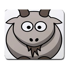 Goat Sheep Animals Baby Head Small Kid Girl Faces Face Large Mousepads by Alisyart