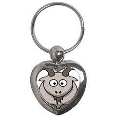 Goat Sheep Animals Baby Head Small Kid Girl Faces Face Key Chains (heart)  by Alisyart