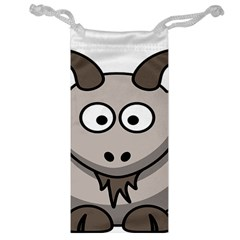 Goat Sheep Animals Baby Head Small Kid Girl Faces Face Jewelry Bag by Alisyart