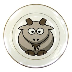 Goat Sheep Animals Baby Head Small Kid Girl Faces Face Porcelain Plates