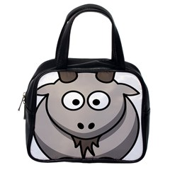 Goat Sheep Animals Baby Head Small Kid Girl Faces Face Classic Handbags (one Side) by Alisyart