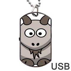 Goat Sheep Animals Baby Head Small Kid Girl Faces Face Dog Tag Usb Flash (two Sides)