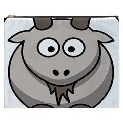Goat Sheep Animals Baby Head Small Kid Girl Faces Face Cosmetic Bag (xxxl)