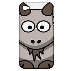 Goat Sheep Animals Baby Head Small Kid Girl Faces Face Apple Iphone 4/4s Hardshell Case (pc+silicone)