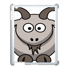 Goat Sheep Animals Baby Head Small Kid Girl Faces Face Apple Ipad 3/4 Case (white)