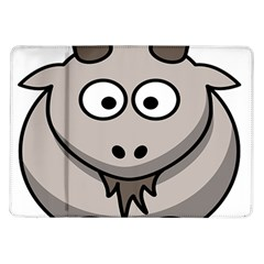 Goat Sheep Animals Baby Head Small Kid Girl Faces Face Samsung Galaxy Tab 10 1  P7500 Flip Case