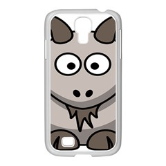 Goat Sheep Animals Baby Head Small Kid Girl Faces Face Samsung Galaxy S4 I9500/ I9505 Case (white)